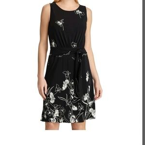 Chaos Pleates Fit & Flare Dress